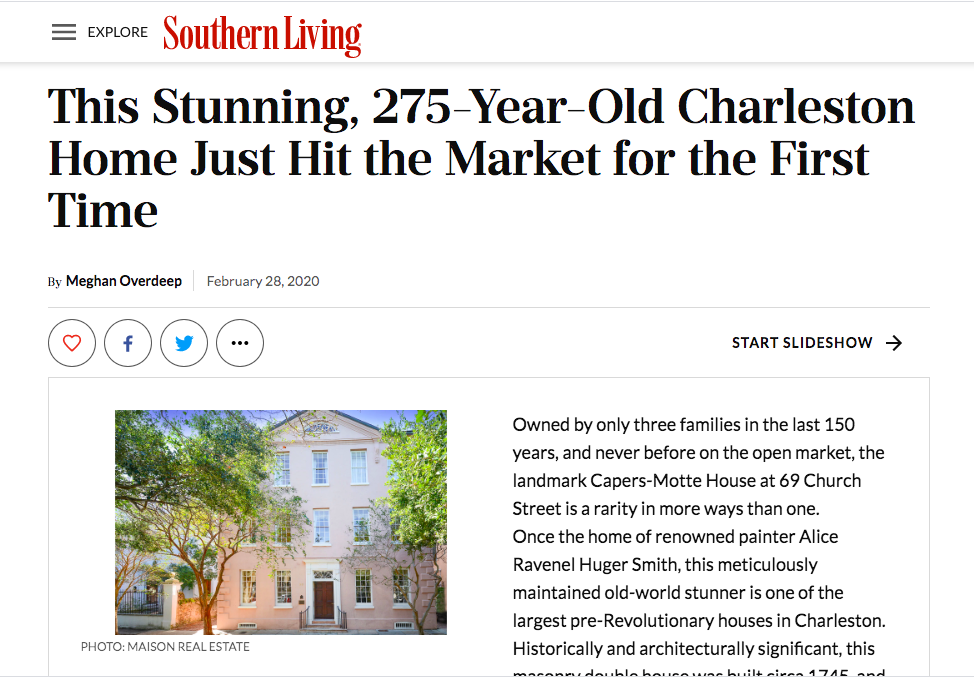 February 2020 - 69 Church featured in Southern Living Magazine