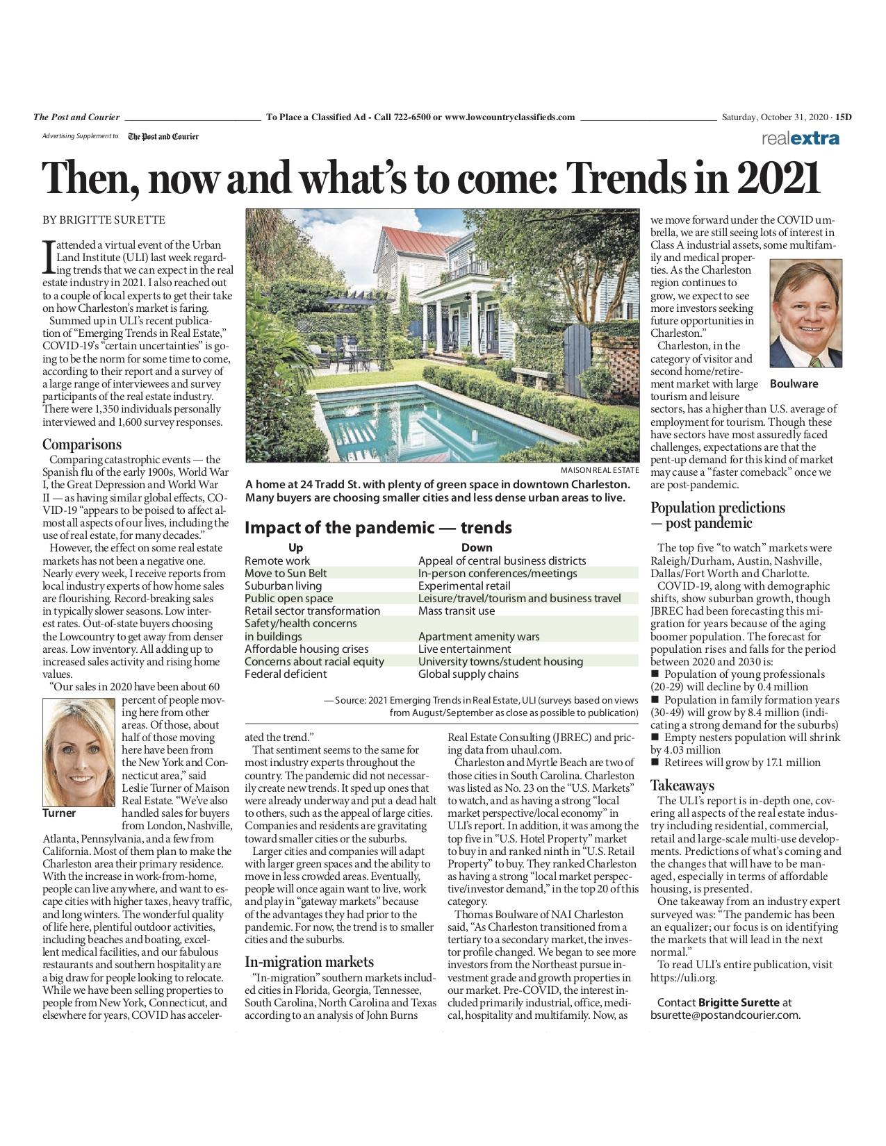 Leslie Turner shares 24 Tradd Street and her thoughts on emerging trends for 2021