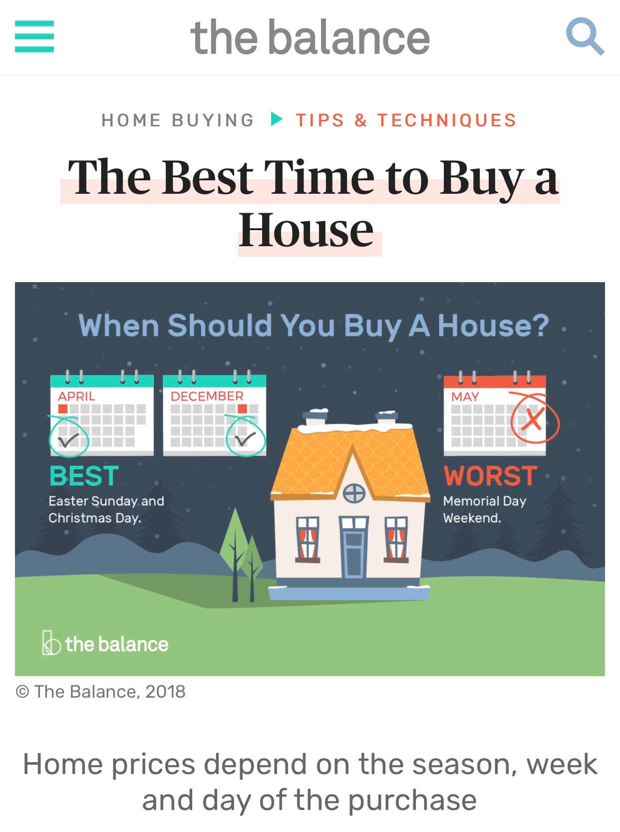 Mary Lou Wertz's knowledge of the seasonality of home buying and selling featured in article by