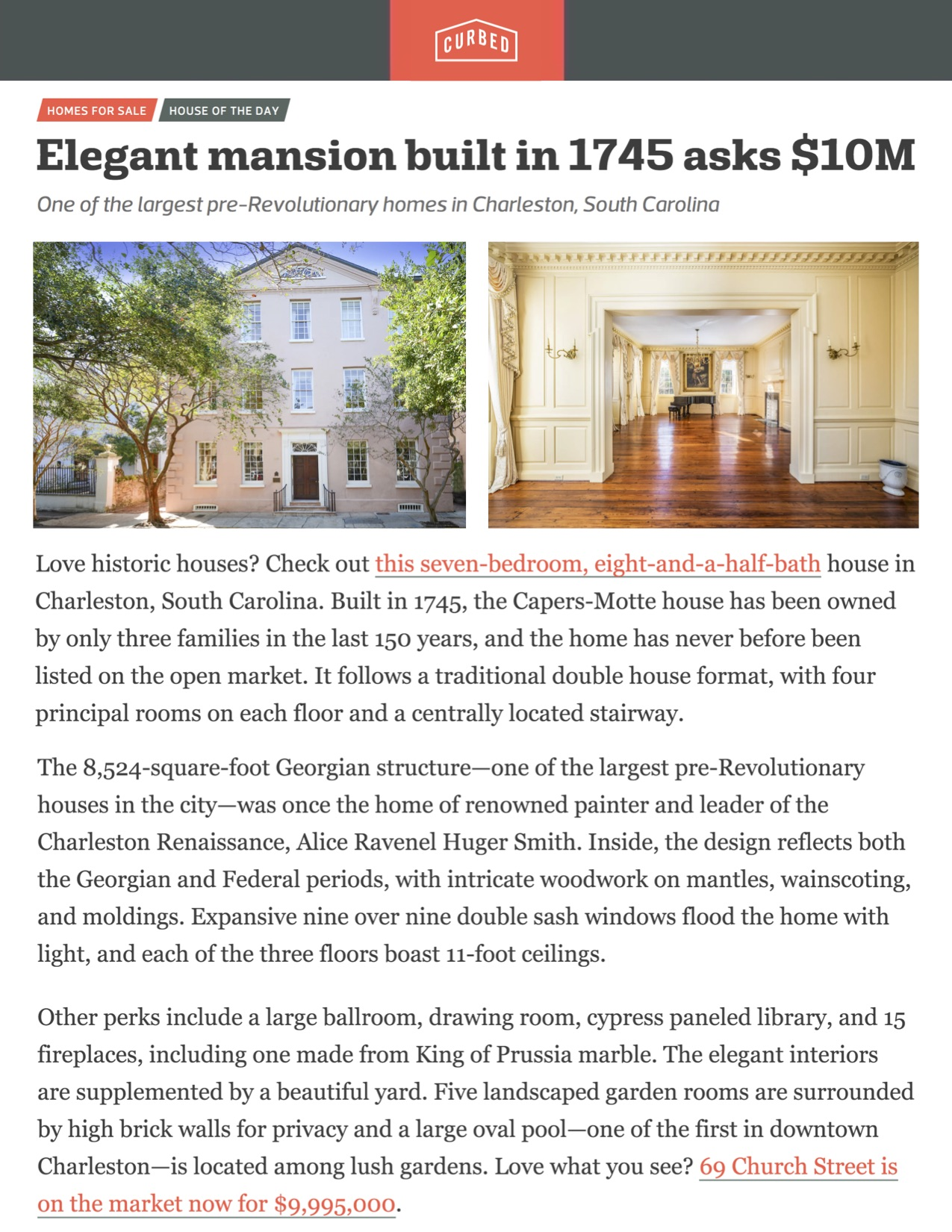 Curbed features 69 Church Street as House of the Day!