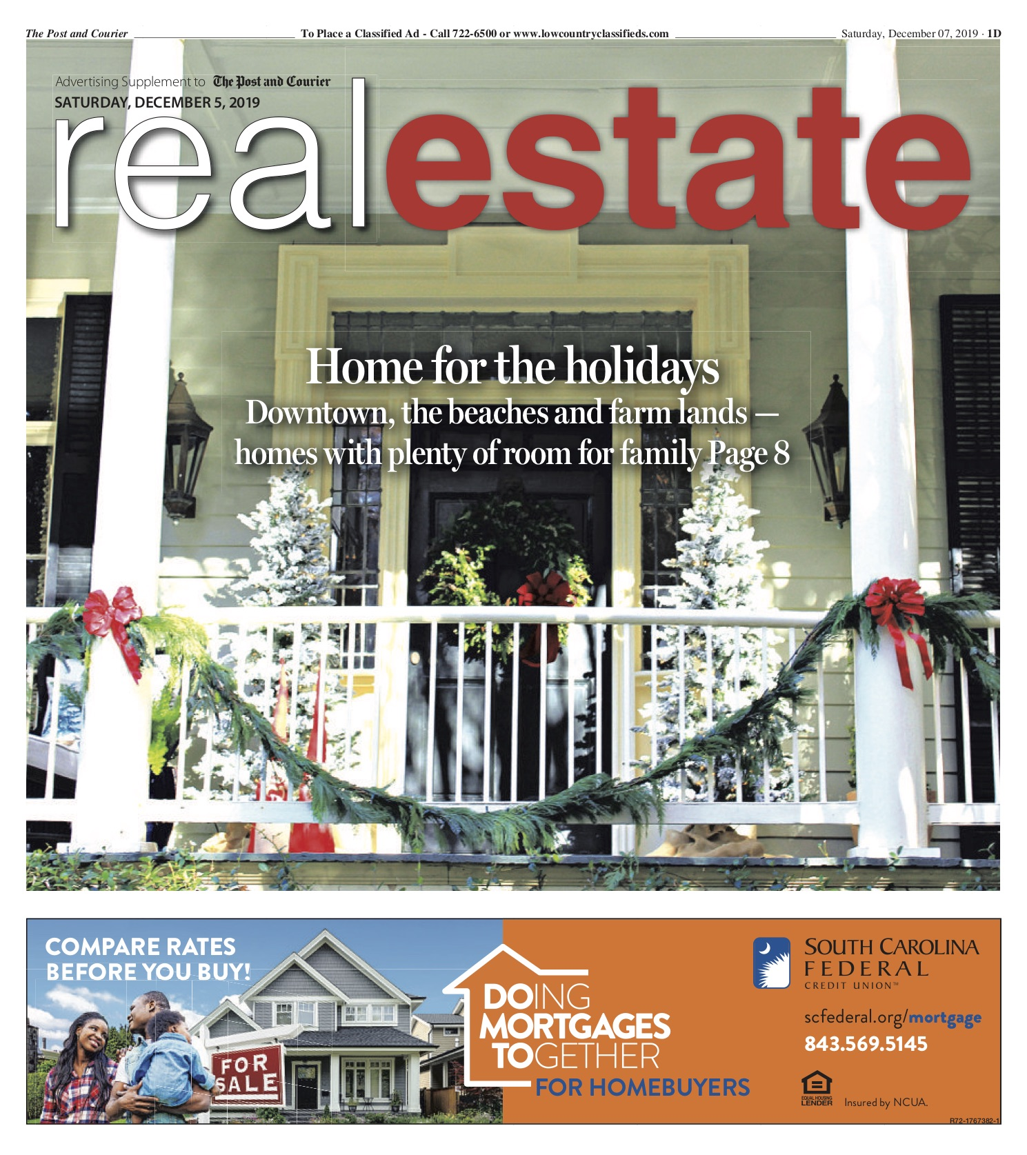 December 2019 - Home for the Holidays article Featuring 29 Legare in the Post and Courier