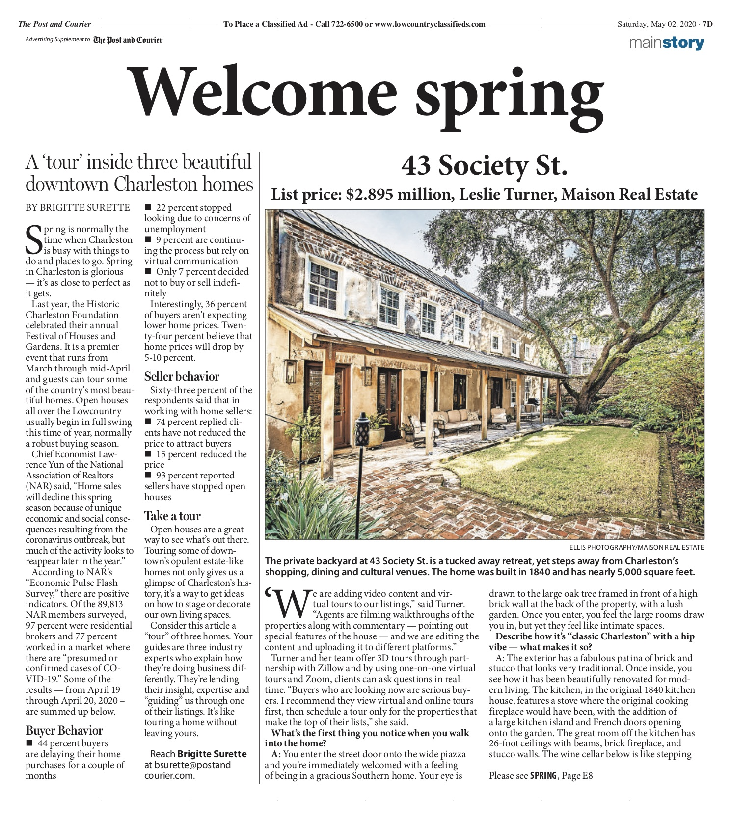 43 Society featured in Post and Courier